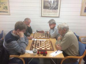 Christoffer - Egil foran, og Steffen - Øivind bak